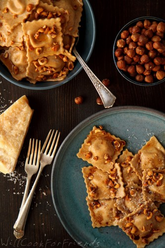Photo Credit: pinlavie Pumpkin Ravioli with Hazelnut Brown Butter Sauce and Balsamic Drizzle